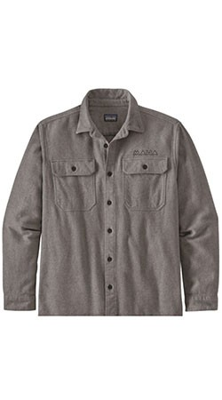 MAHA Patagonia Fjord Flannel, Heather Grey - Size Medium